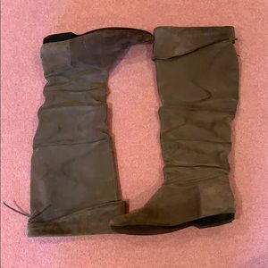 Enzo Angiolini Tall Gray Leather Boots